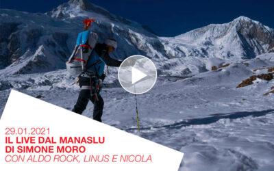 Simone Moro live dal Manaslu